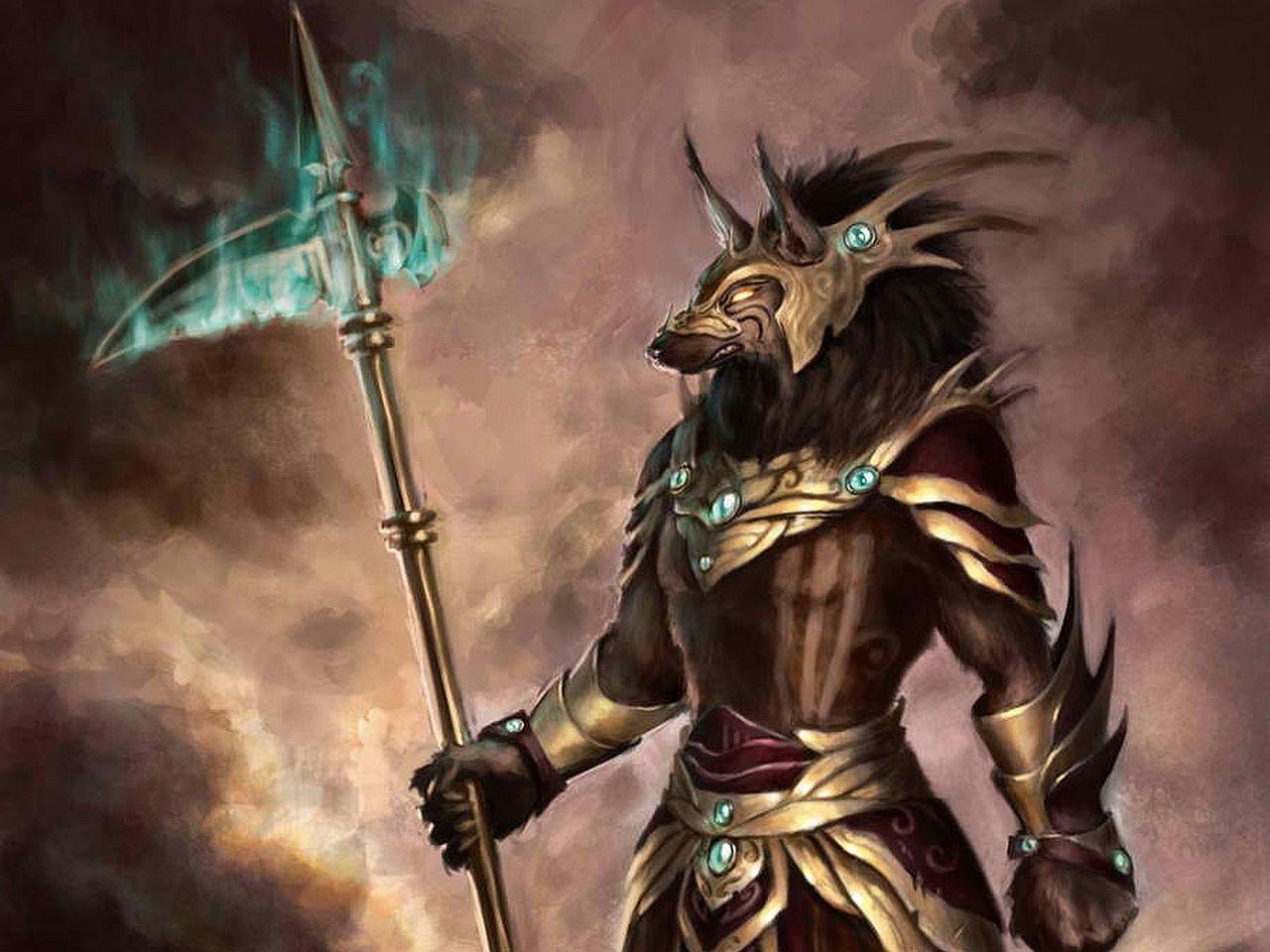 Egypt Warrior Illustration Anubis Pyramid Fantasy Art: Exalted 3e Edition