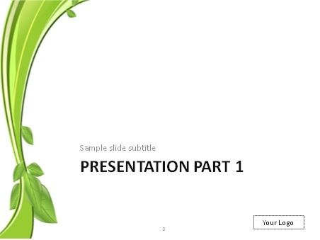 Branch with green leaves PowerPoint template mel Pinterest