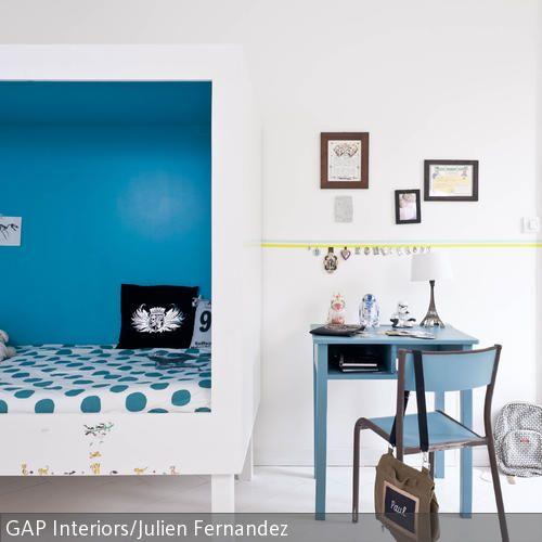 Kinderbett in blau gestalten kinderzimmer pinterest - Kinderbett gestalten ...