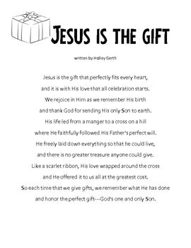christmas writing activity my gift to jesus letters to jesus inspirational pinterest christmas christmas poems and christmas writing