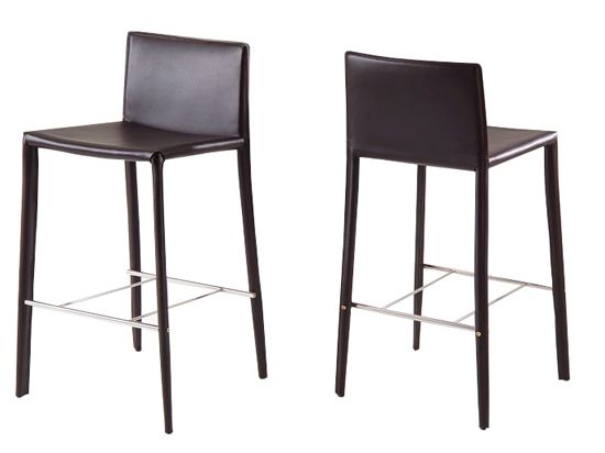 dania the andrew counter stool in brown black or cream synthetic leather with cream