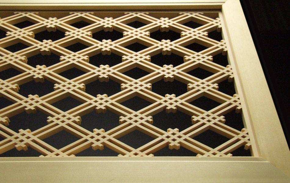 Izutsu-wari-bishi Kumiko Japanese lattice