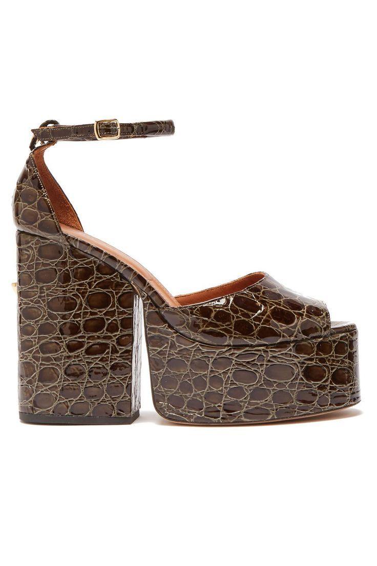 Tendenza moda Autunno Inverno 2019 2020: scarpe skin coccodrillo