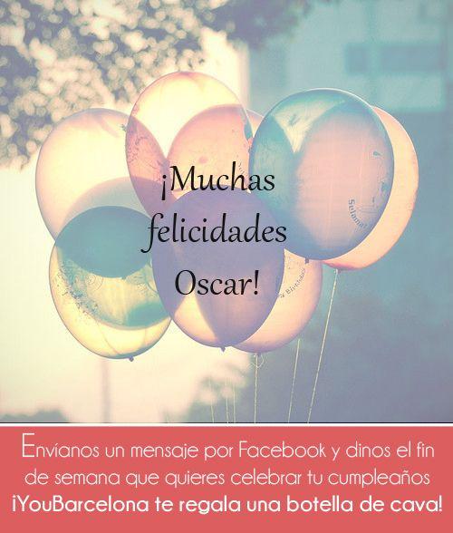 ¡Muchas felicidades Oscar! #YouBarcelona