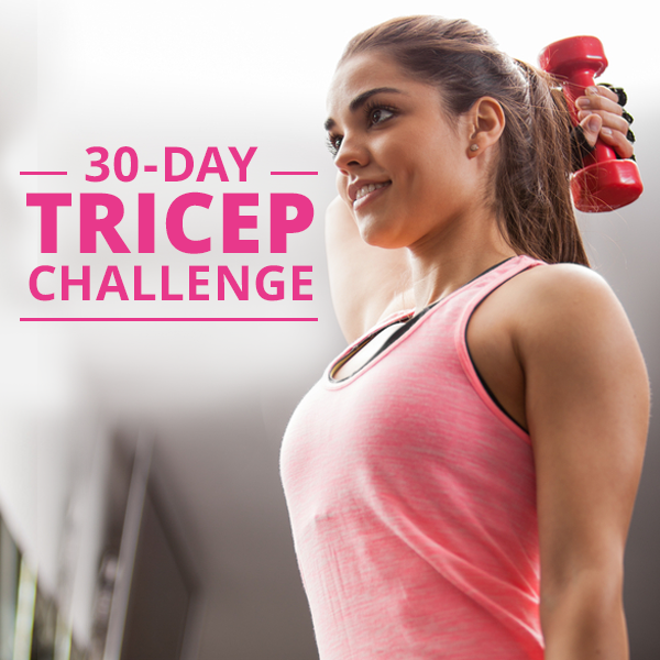 30 Day Tricep Challenge -get strong, sexy, and toned triceps in just 4 weeks!  #tricepchallenge #30daychallenge