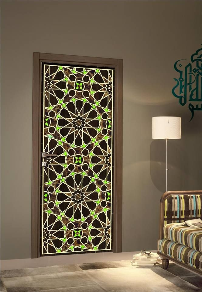 D coration orientale pour porte chambre 3 pinterest for Decoration chambre orientale