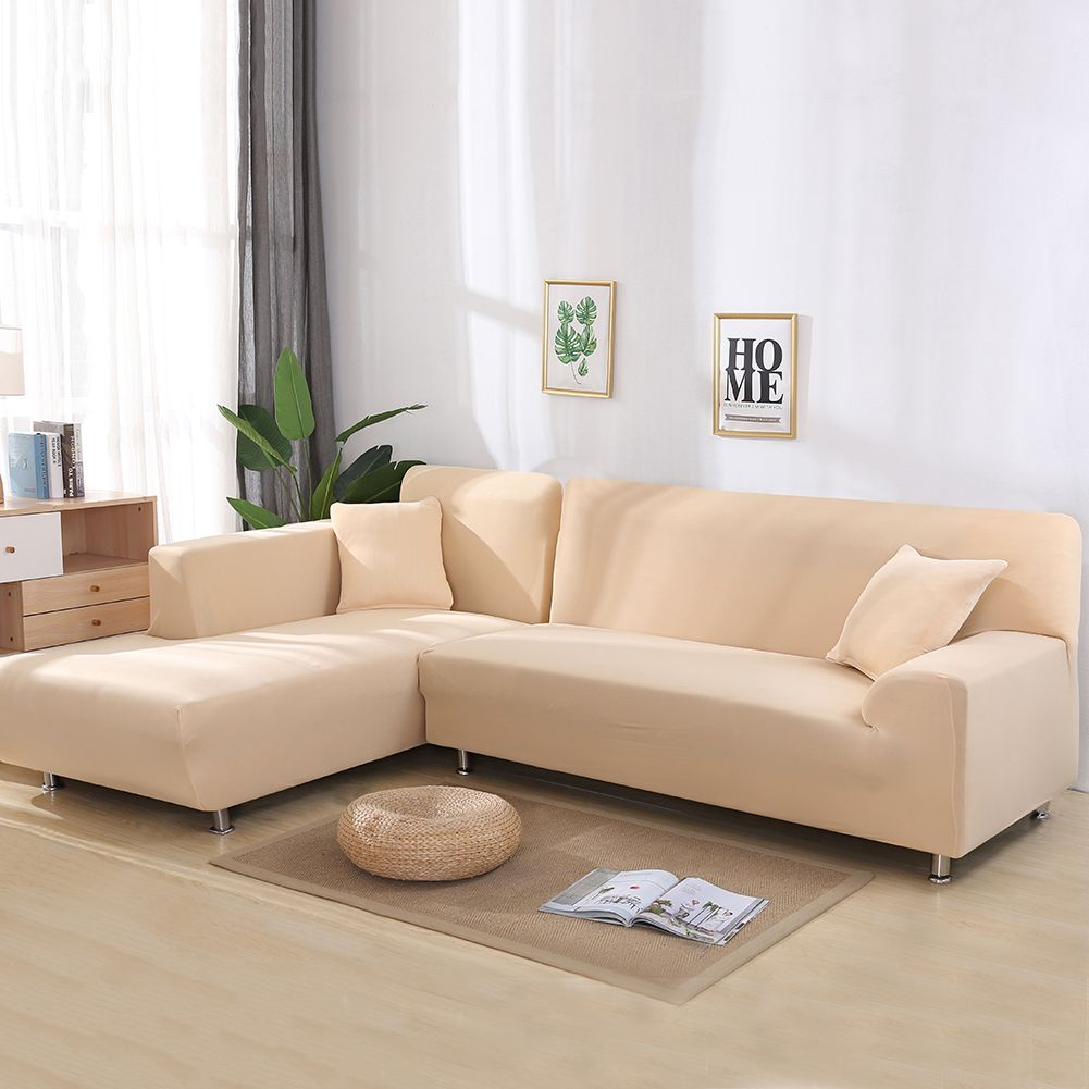All Cover Sectional Sofa L Shape 2pcs Slipcover Elastic Washable Couch Cover 2seater 55 To 74inch Corner Sofa Covers Cushions On Sofa Sectional Sofa Couch