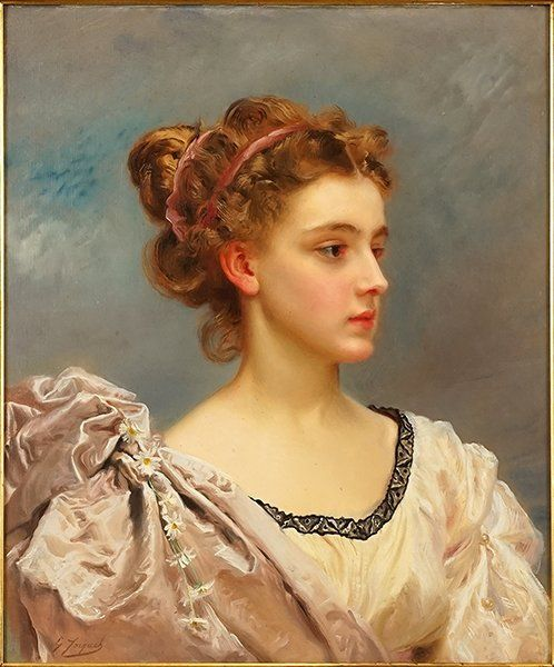 Gustave Jacquet (French, 1846 1909) A Young Beauty. in 2020