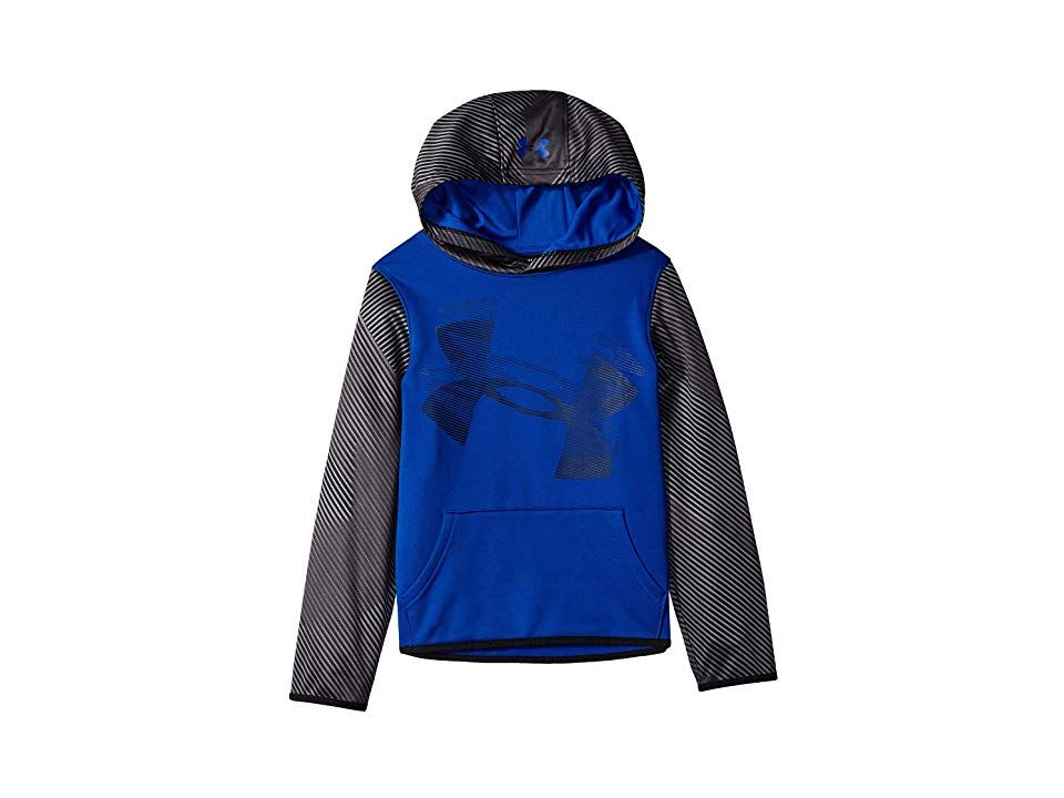 d478d9a73be0 Under Armour Kids AF Highlight Sleeve Hoodie (Big Kids) (Royal Black) Boy s  Sweatshirt. Sharpen your sporty style with a modern look in the dependable  Under ...