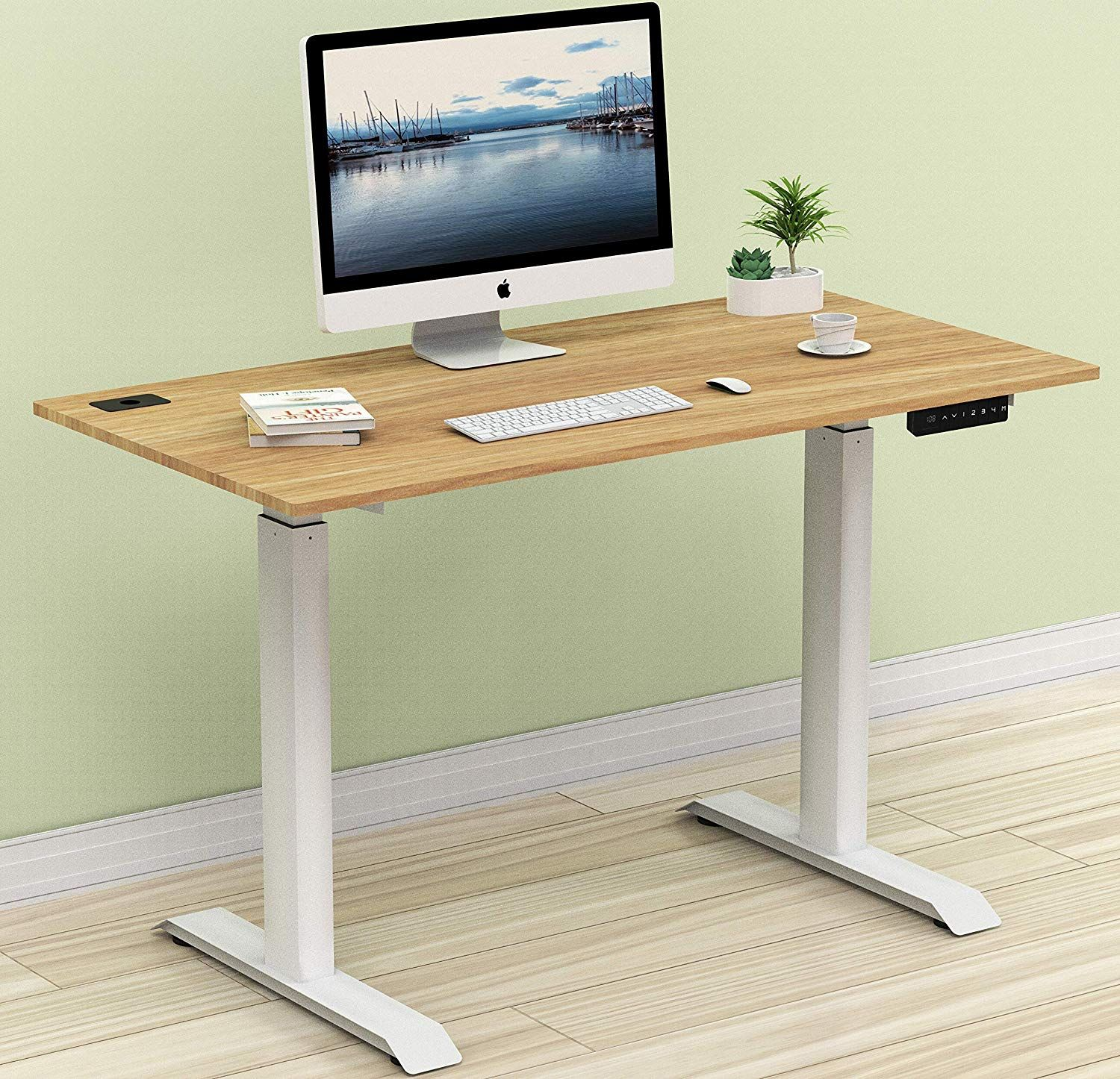 Amazon.com: SHW Electric Height Adjustable Computer Desk, 48 x 24 ...