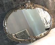 wandspiegel barock oval antik silber 52x42 badspiegel vintage retro spiegel c17 wohnen. Black Bedroom Furniture Sets. Home Design Ideas