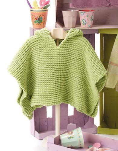 Patrón poncho para bebé - Lanas, Ganchillo y Punto | Ponchos con ...