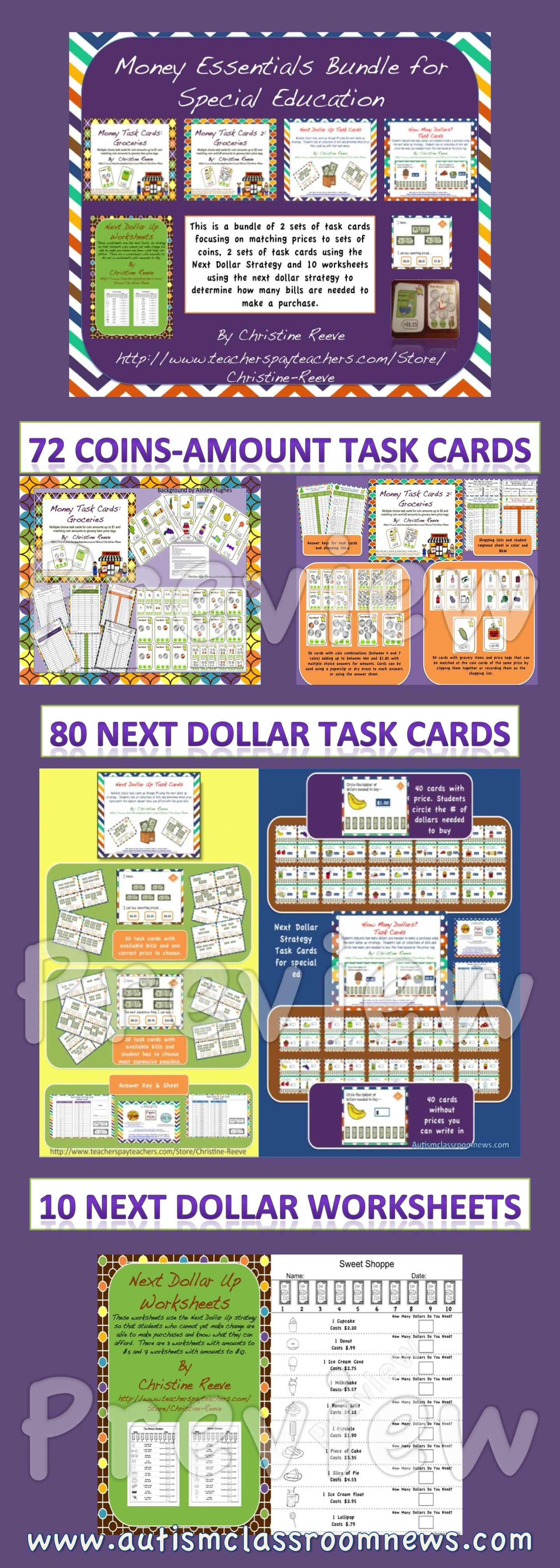 Money Essentials Bundle For Special Education Task Cards
