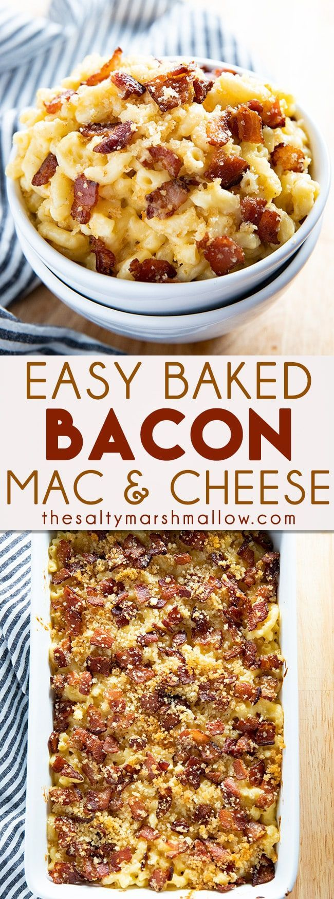 Macaroni And Cheese With Bacon Gratin Recipe Macaroni Cheese