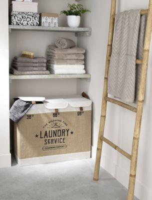 panier linge 3 compartiments preston 93 l deco salle. Black Bedroom Furniture Sets. Home Design Ideas