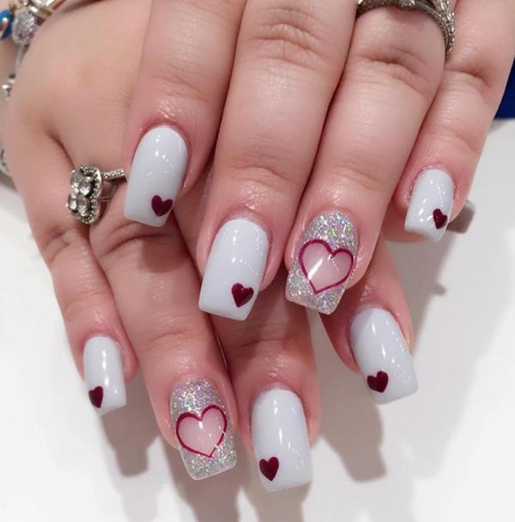 Photo of 70+ Easy Valentine's Day Nail Art Ideas 2019 –   – #Art #Day #Easy #GesundesEs…