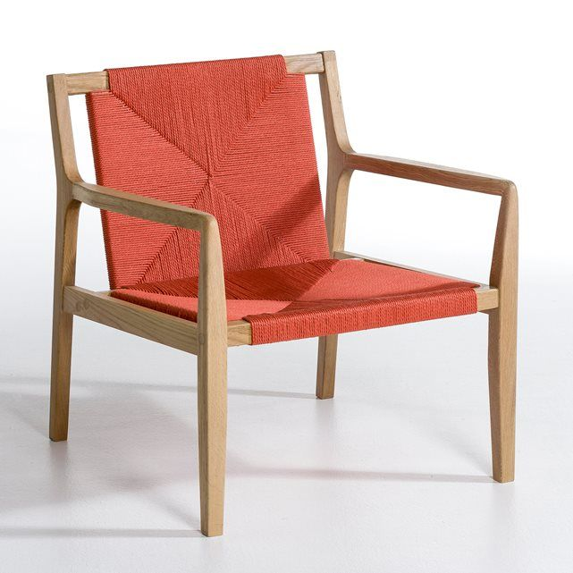 Solon Armchair With Woven Seat Am Pm La Redoute Mobile