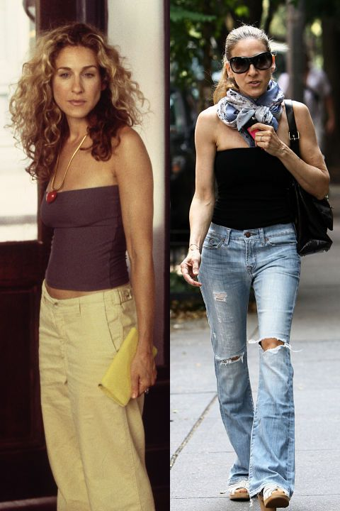 50 Times Sarah Jessica Parker Dressed Like Carrie Bradshaw In Real Life Carrie Bradshaw Style Sara Jessica Parker Carrie Bradshaw Outfits