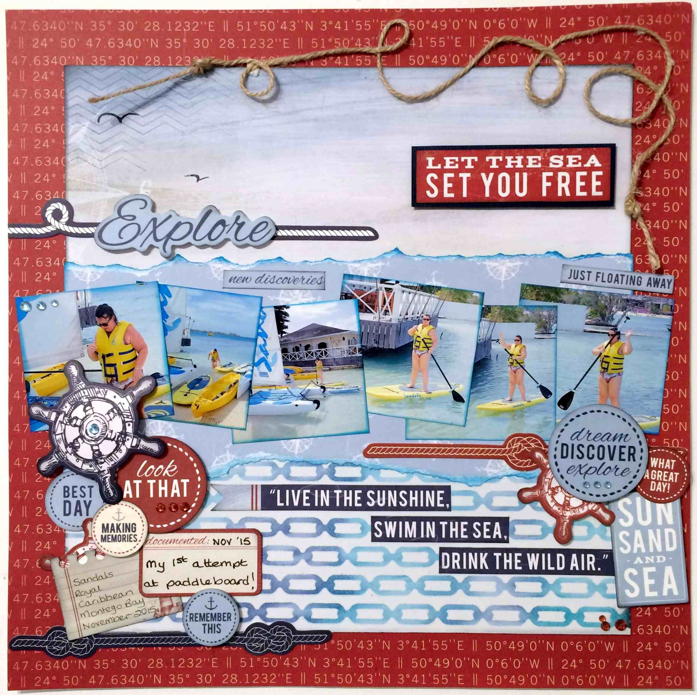How to scrapbook uk - Sail Away