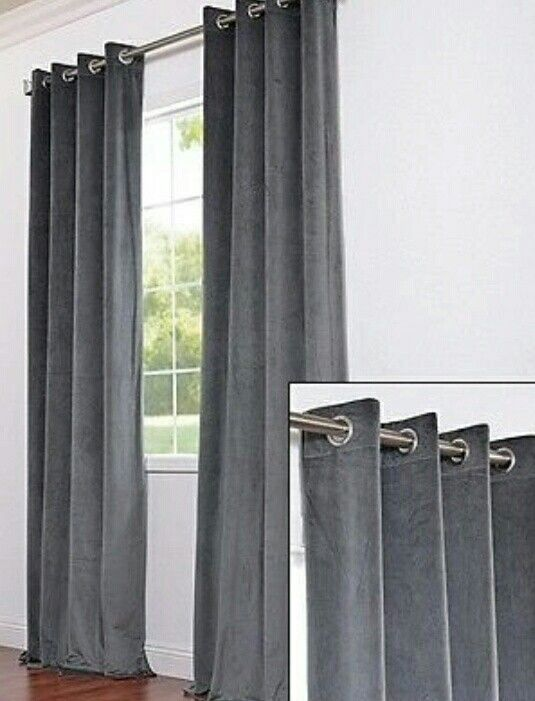 Dark Grey Eyelet Curtains Curtains Grey Curtains Ikea