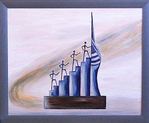 Suchen Sie moderne Deko Wandbilder in Öl für Ihre Büro oder
