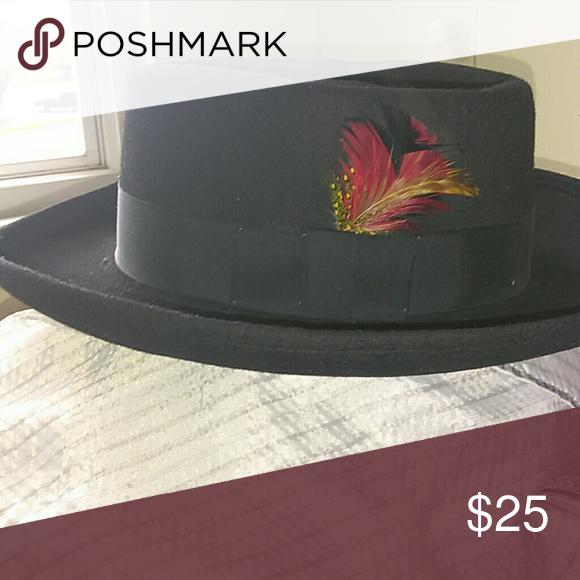 668c1ef1c6e ... promo code for mens western dress or rockstar gambler style black wool  with 1 matte hat