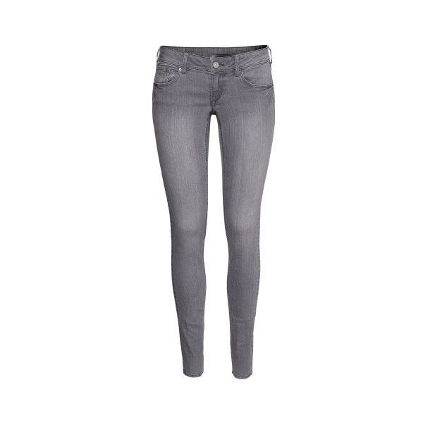 H&M Super Skinny Super Low Jeans (60 ILS) ❤ liked on Polyvore featuring jeans, skinny low jeans, skinny leg jeans, h&m jeans, super skinny super low jeans e slim leg jeans