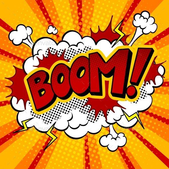 Boom word pop art retro vector illustration. Comic book style imitation. #comicbooks