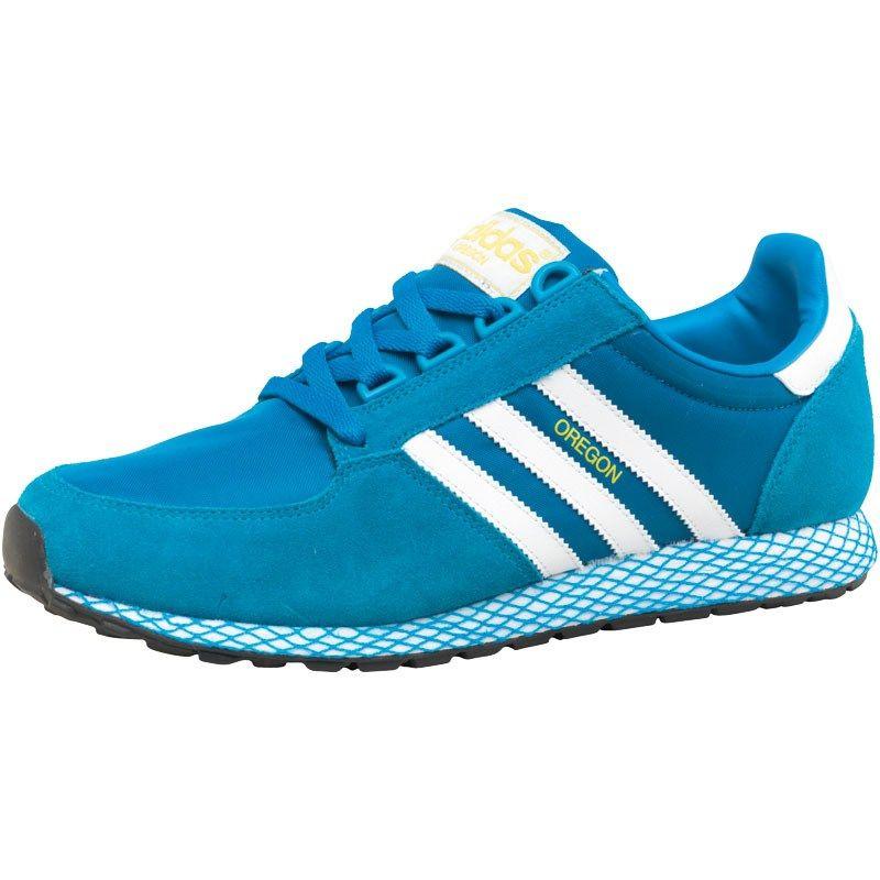 best loved ead08 864e9 adidas Originals Mens Oregon Trainers PoolWhiteSunshine