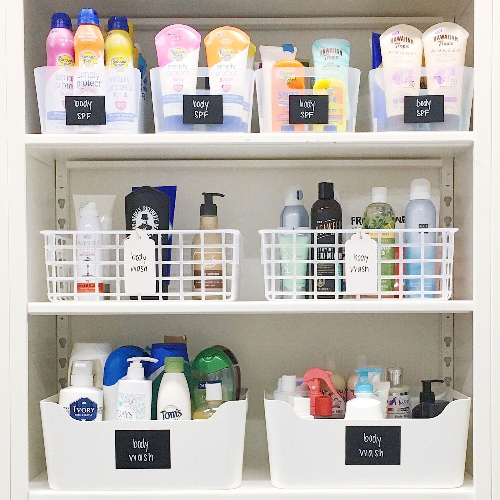 Cosmetics Closet In 2020 Bathroom Organization Diy Bathroom Organisation Under Sink Organization