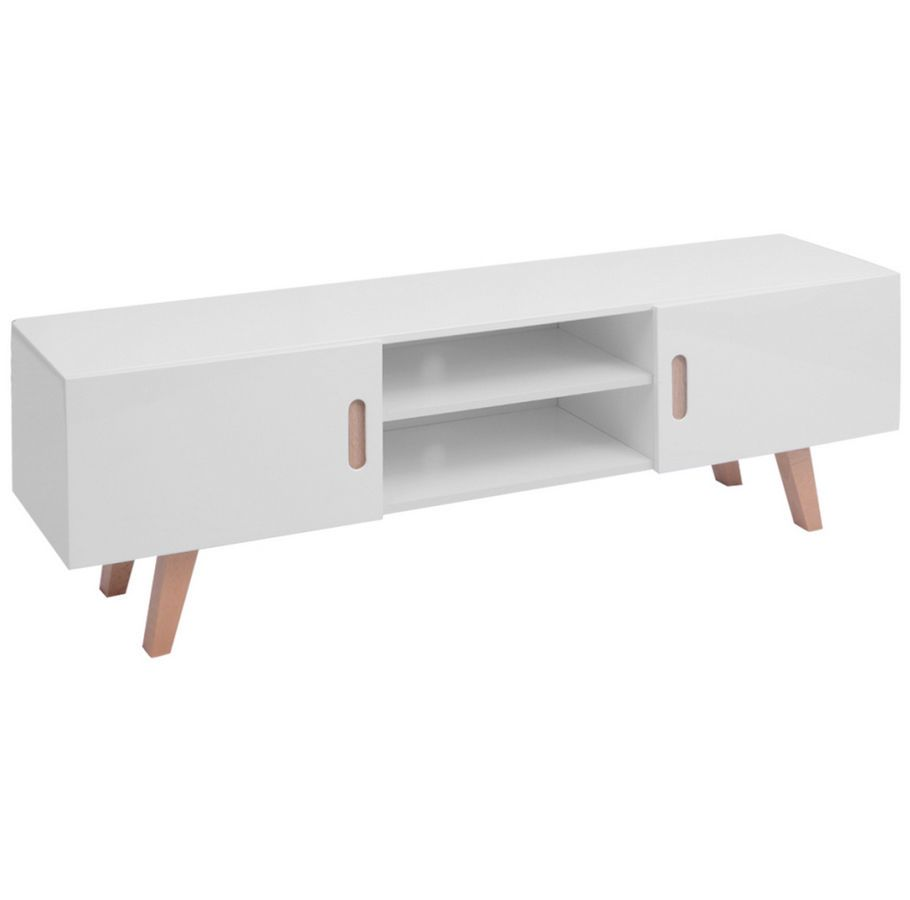 Large Tv Cabinet White High Gloss Modern Television Stand Living ...