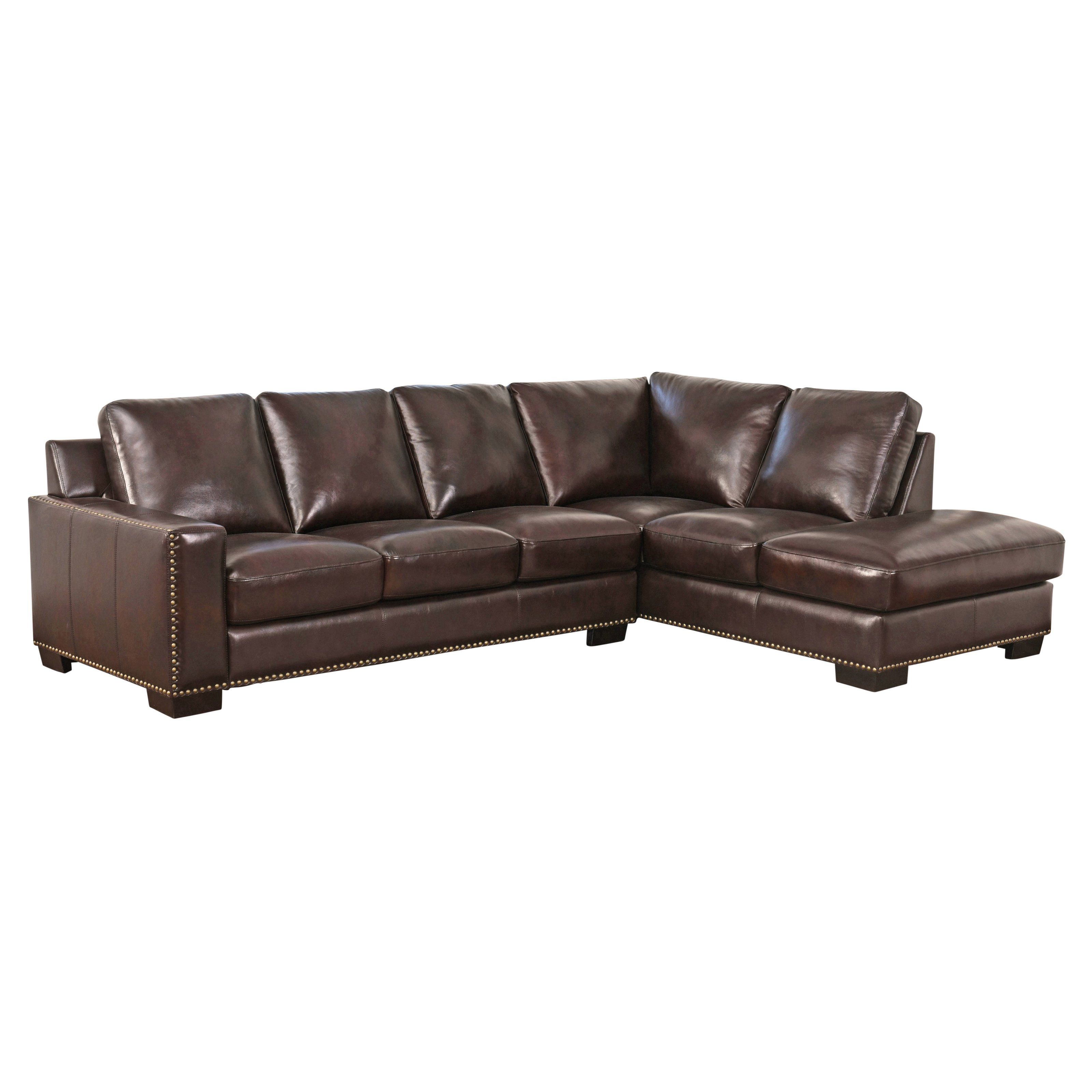 This Top Grain Leather Sectional Is Made To Anchor Any Living E With Style Chocolate Brown Constructed Our Luxury Cloud
