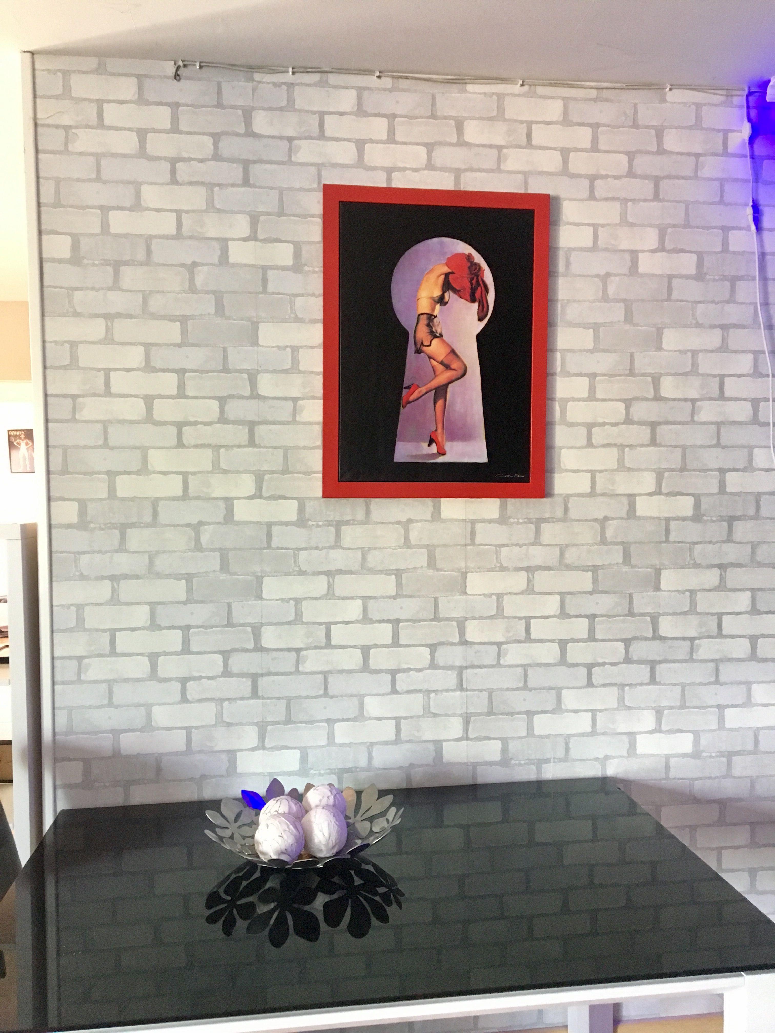 Art Pin Up Girl . ❤️Cristina Moreno. Collage#pintura acrílica#arte ...