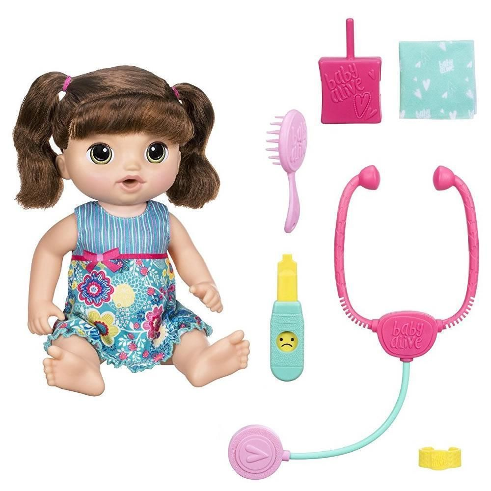 Baby Alive Sweet Tears Baby Brunette Crys Speaks English Spanish Doll Chop 630509520183 Ebay Baby Alive Baby Doll Nursery Doll Sets