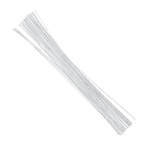 Decora 24 Gauge White Floral Wire 16 inch,50//Package