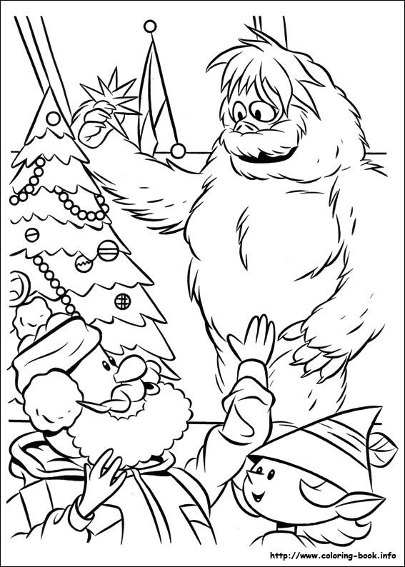 Yukon And Bumble Color Page Rudolph Coloring Pages Christmas Coloring Sheets Snowman Coloring Pages