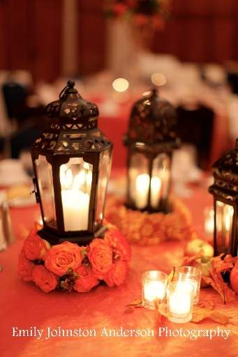 Awe Inspiring Flowers On Each Small Lantern Centerpiece Ideas Simple Download Free Architecture Designs Sospemadebymaigaardcom