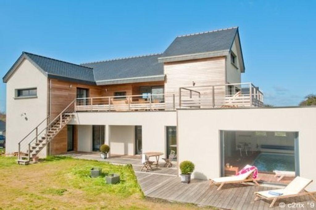 Saint-Cast-le-Guildo, Villa de vacances avec 6 chambres pour 13 - location villa piscine couverte chauffee