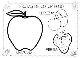 Frutas De Color Rojo Con Imagenes Actividades Para Ninos