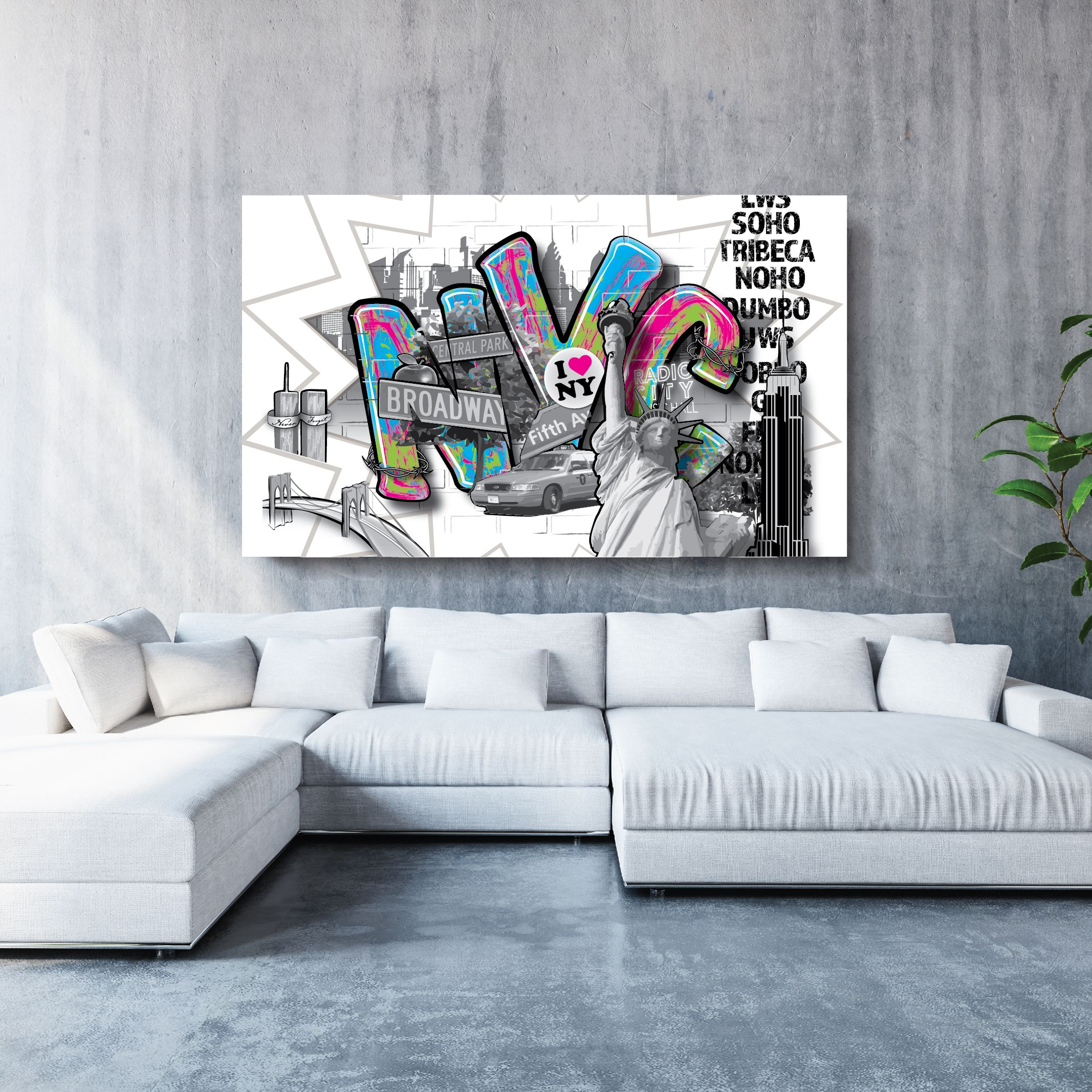 This dynamic nyc graffiti art can be customized to perfectly suit your space perfect for