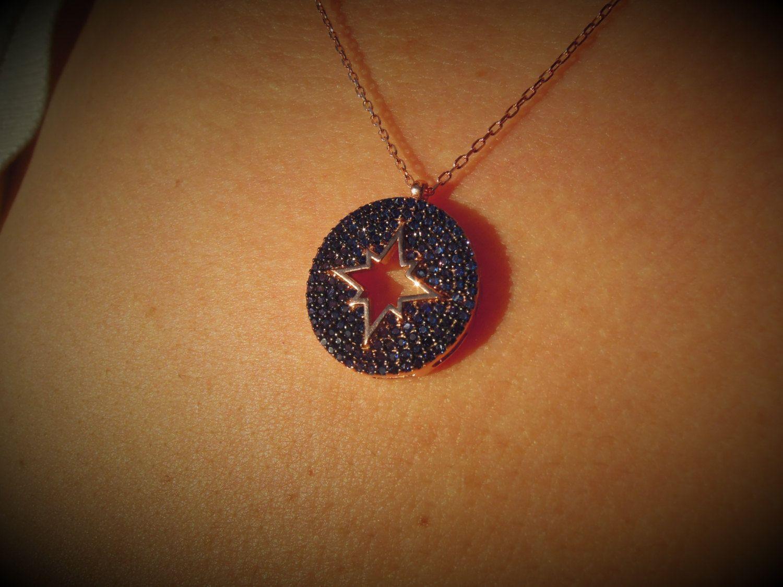 Evil eye necklace - evil eye jewelry - something blue - rose gold - Turkish evil eye - protection necklace - kaballah jewelry - wife by ebrukjewelry on Etsy