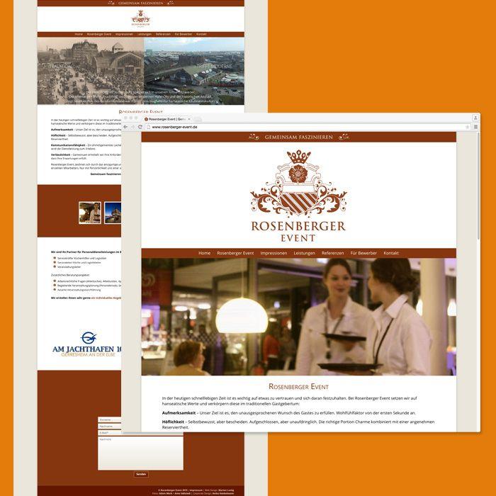 One-Page für Rosenberger Event