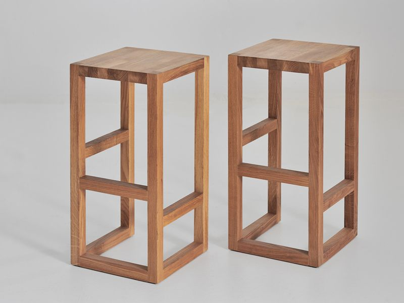 Solid wood stool step by vitamin design for the island
