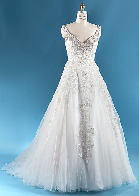 The rapunzel wedding gown from the alfred angelo bridal for Wedding dress disney collection