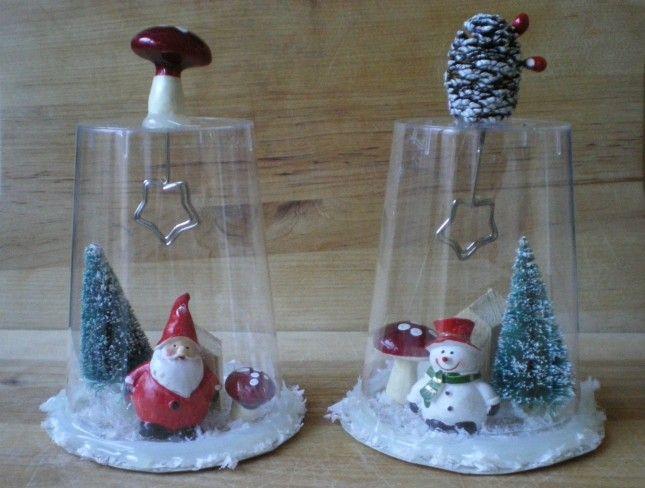 Campane Natalizie Con Materiale Riciclato. Il Tutorial:  Http://www.unadonna.it/natale/decorazioni Natalizie Con Bicchieri Di  Plastica/64307/