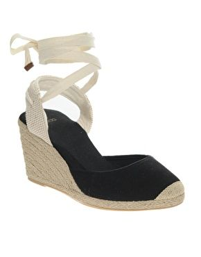 ASOS HELENA Two Part Tie Up Espadrille Wedge
