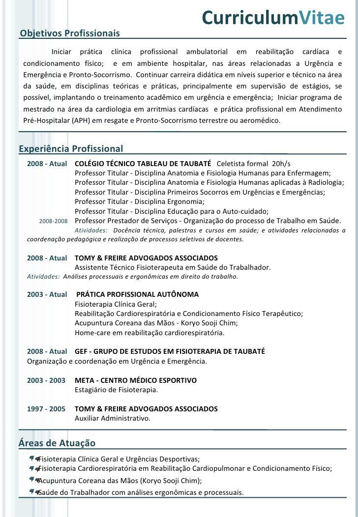Modelo De Curriculum Vitae Para Tecnico Em Enfermagem Resultados