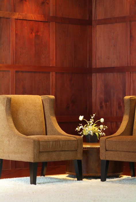 Wood Paneled Office: Contemporary Mahogany Wood Wall Panel (With Images