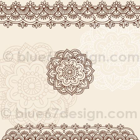 Mehndi Henna Tattoo Paisley Doodles Illustration by blue67design | Flickr - Photo Sharing!