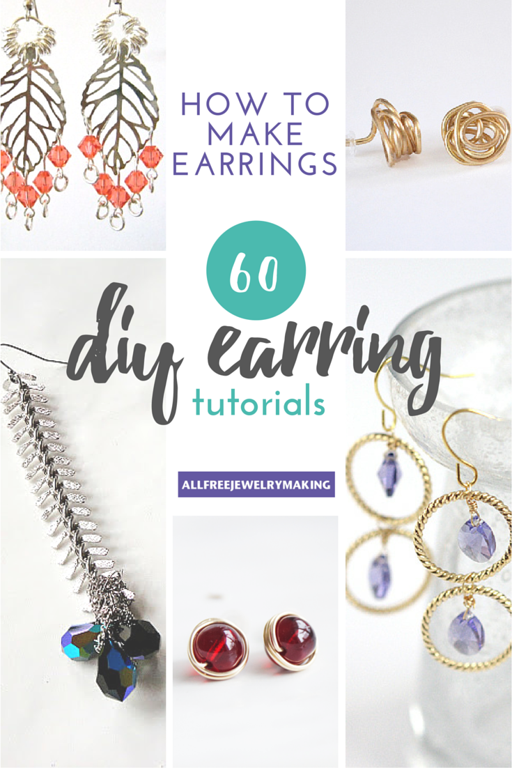 how to make earrings: 60 diy earrings | diy earrings, jewelry